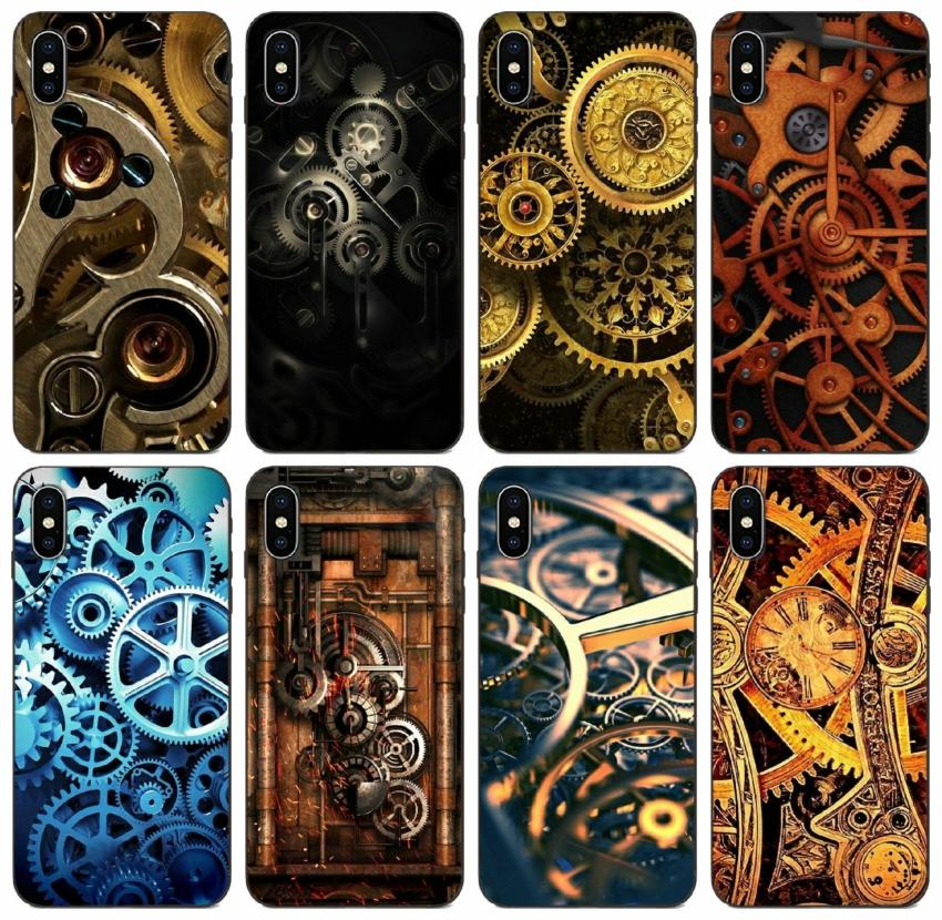 [TongTrade] Mechanical Gears Steampunk Case For iPhone 11 Pro X XS Max XR 8s 8 7s 7 SE Galaxy J3 Huawei Mate 20 Lite Redmi Note 3 Vogue Case