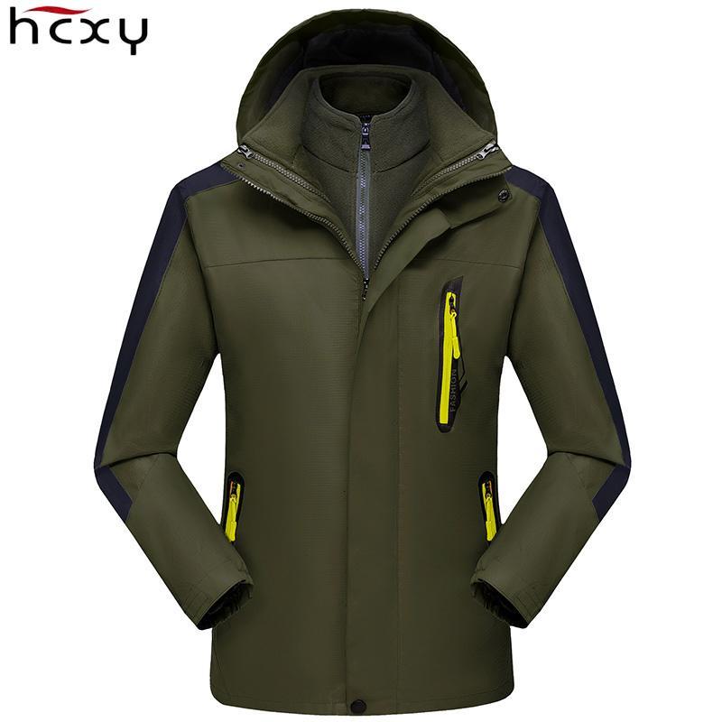 HCXY 2019 Men's Technical Jacket Coat Hooded Men Couple Hardshell Parka Winter Clothes Male Female Raincoats Man Mountain Wear T191029