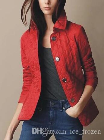 Primavera Autunno Donne Plaid diamante Giacche Londra Brit Classic cappotto manica lunga monopetto New England modo casuale Streetwear Red