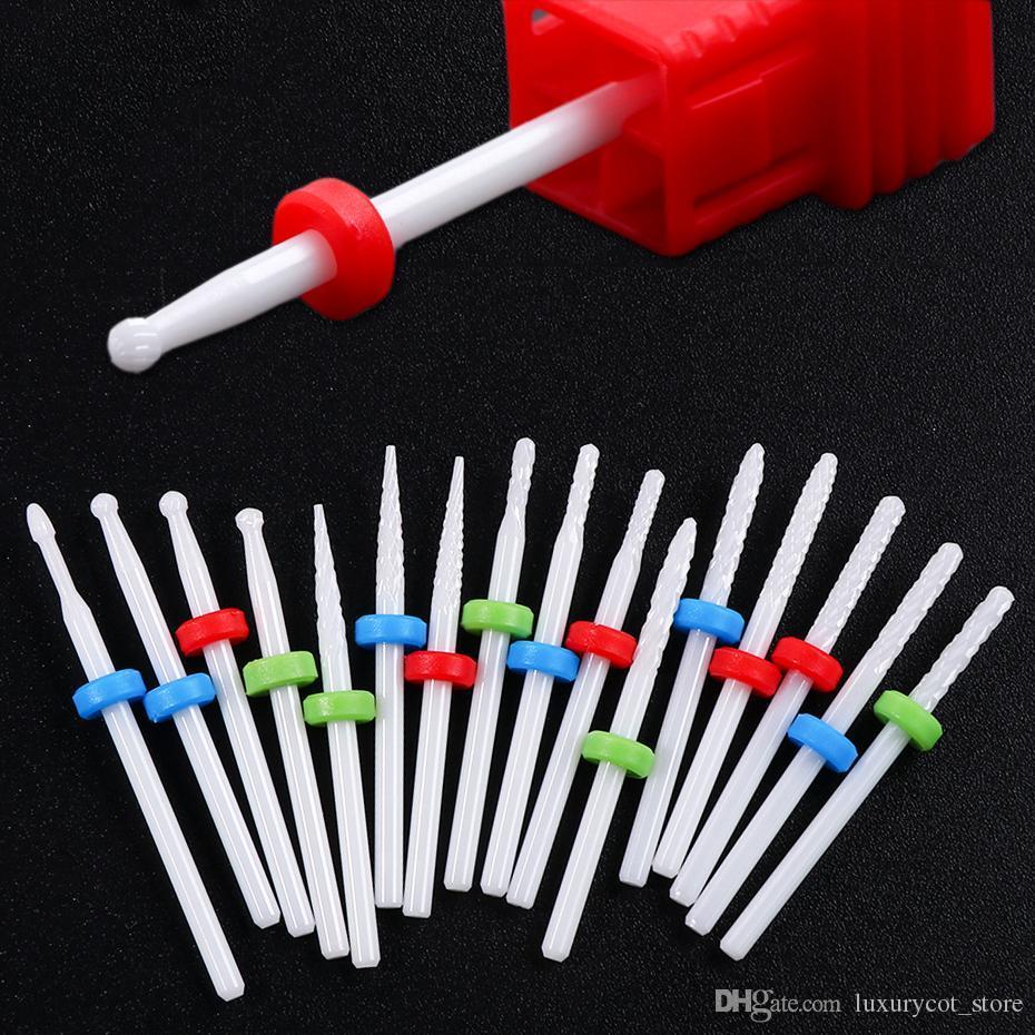 1pcs Ceramics Milling Cutter Small Ball Nail Drill Bit Ceramic Burrs Manicure Dead Skin Cleaning Bit Nail Art Tools