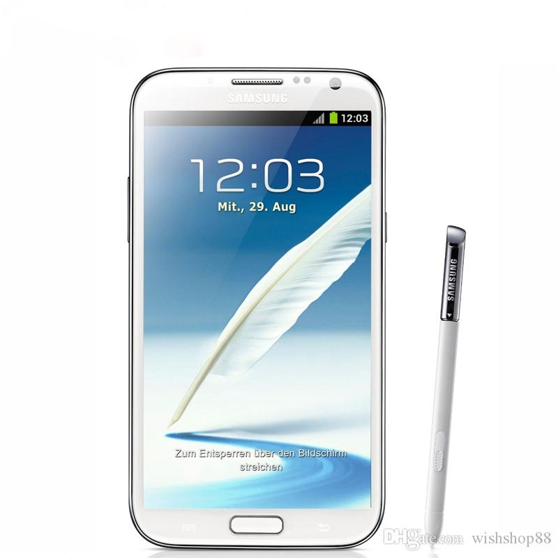 Original Refurbished Samsung Galaxy Note 2 N7100 Smartphones Android Quad  Core 5 5 Inch 2GB RAM 16GB ROM 3G NFC Mobile Phones Reconditioned Phones