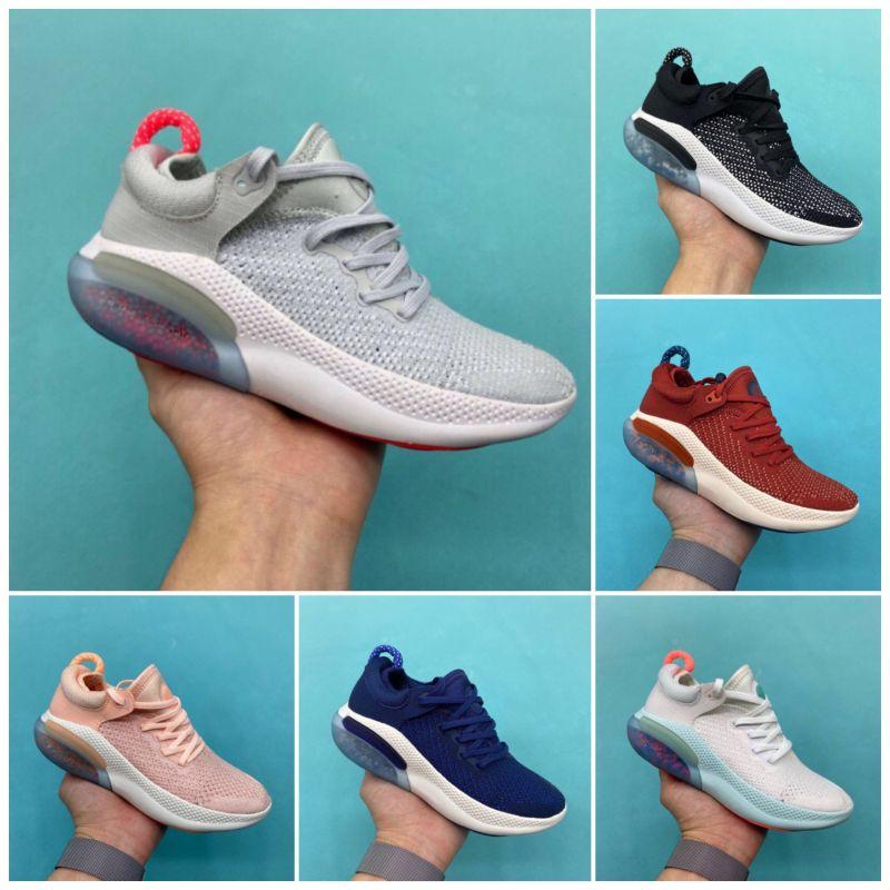 Nike JOYRIDE RUN FK 2020 bambini Running Shoes Triple Black White Platinum Racer Blu Sport Utility esecuzione scarpe da tennis Taglia 28-35