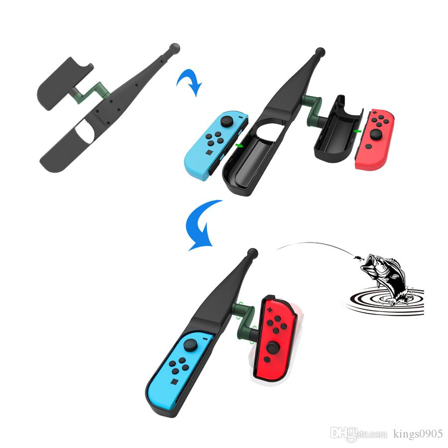 High quality Game Peripherals Handgrip Sense Game Accessories Handle Joypad Stand Holder Fishing Rod Pole for Nintend Switch Joy-con free sh