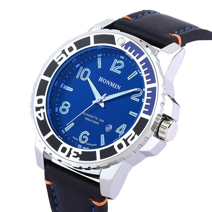 hediye kutusu ile Yeni klasik moda iki renkli erkek kol saati tam çevir çalışma takvimi
