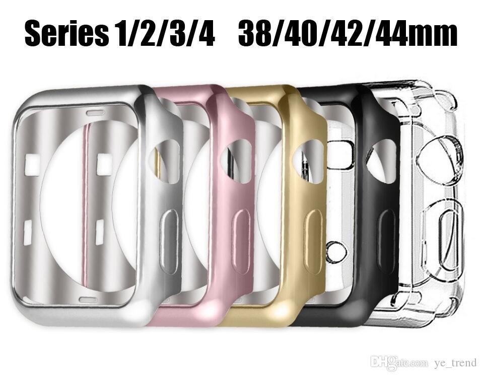 Apple 시계 3/2/1에 대한 화면 보호기 케이스 iMatch 42MM 42MM Soft TPU All-Around 울트라 씬 HD 지우기 커버 44MM 40MM 용