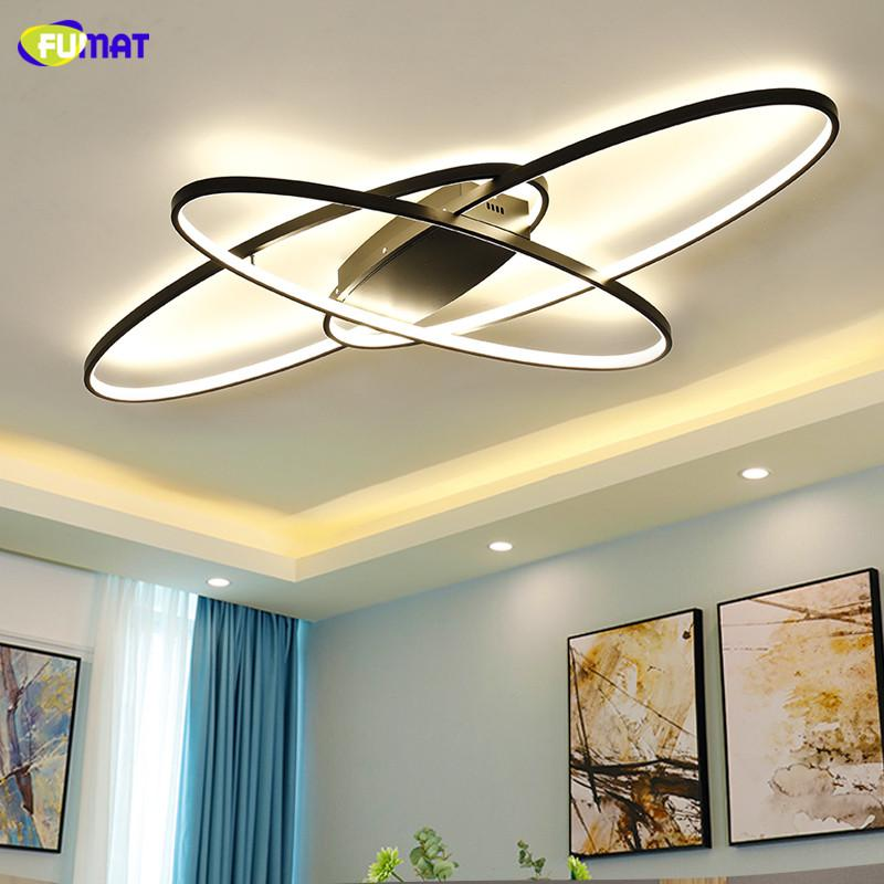 FUMAT hite/Black led lamp Modern Led Ceiling Lights For Livingroom Bedroom Study Room Home Deco Remote dimming Ceiling Lamp Fixtures