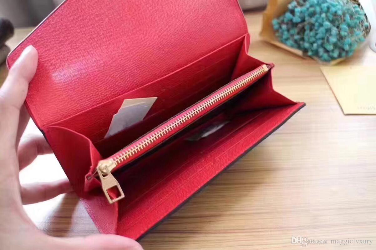 Tasche Original Mode Münz Brieftasche Geldbörse Designer Multicolor Halter Karten Frauen Lange Klassische Reißverschluss Dame # 61184 KBMXU