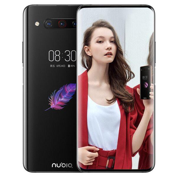 원래 누비아 Z20 4G LTE 휴대 전화 6기가바이트 RAM 1백28기가바이트 ROM 스냅 드래곤 855 플러스 옥타 코어 6.42 인치 듀얼 스크린 48MP 지문 ID 휴대 전화