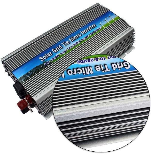Freeshipping 1000W am Rasterfeldbindungssolarstrom-Mikroinverter reine Sinuswelle DC10.5-28V bis 220V Wechselstrom 1kw Netzwechselrichter für 18V 1250W PV Power
