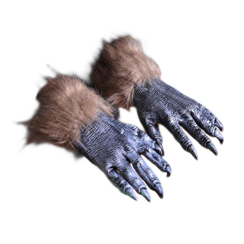 Haloween Gloves Long Fingernails Black Horrible Carnival Festival Props 1 Pair