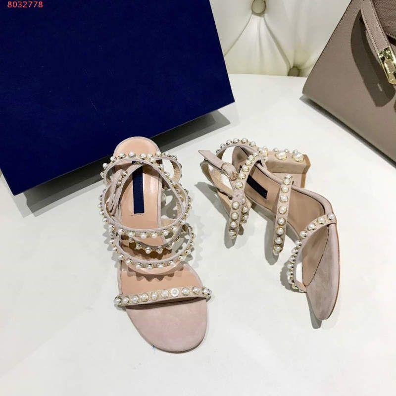Moda sandali tacco alto decorazione moda gusto elegante libero dalla volgarità nero e rosa taglia 35-41