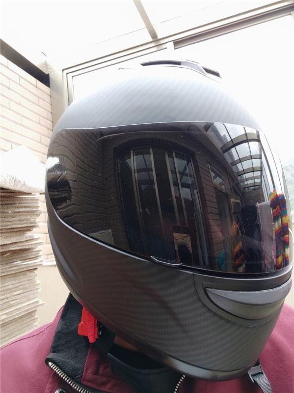 carbon fiber Motorcycle Helmet Black Moto Full Face Retro Scooter Helmets Motorbike Riding Helmet Men Motocross Casco