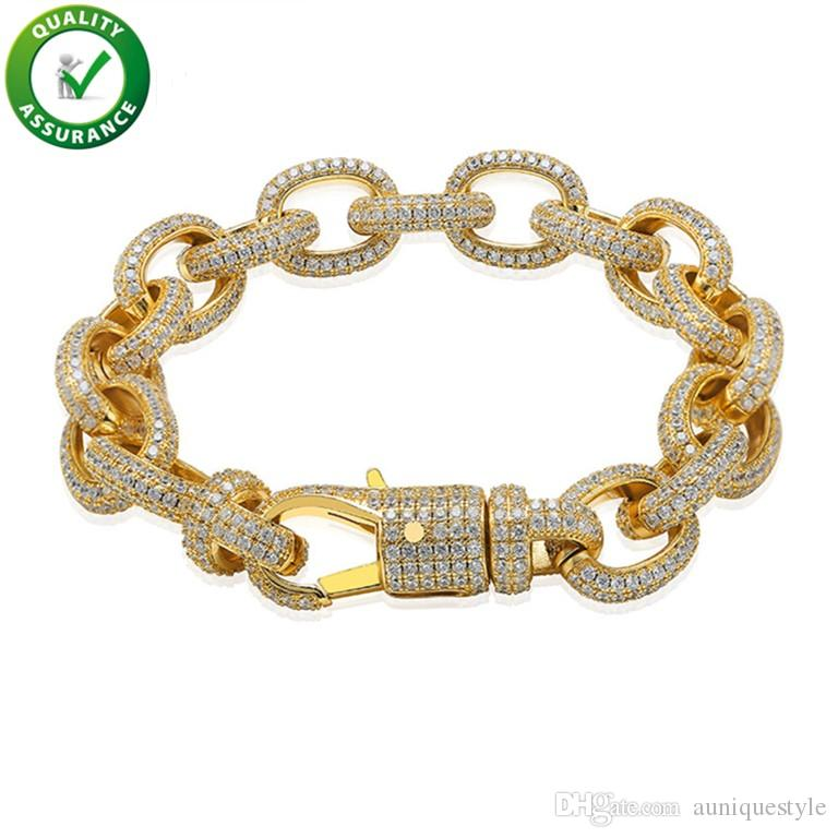 Mens Bracelets Luxury Designer Bangles Hip Hop Jewelry Pandora Style Charm Bracelet Gold Lucky Iced Out Chains Diamond Tennis Wedding Love