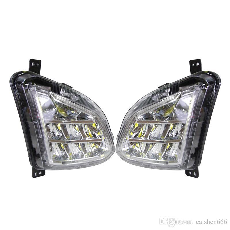 2PCS 자동차 주간은 시보레 이쿼 녹스 2017 2018 DRL LED 램프 릴레이 일광으로 돌려 신호 빛 조명을 실행