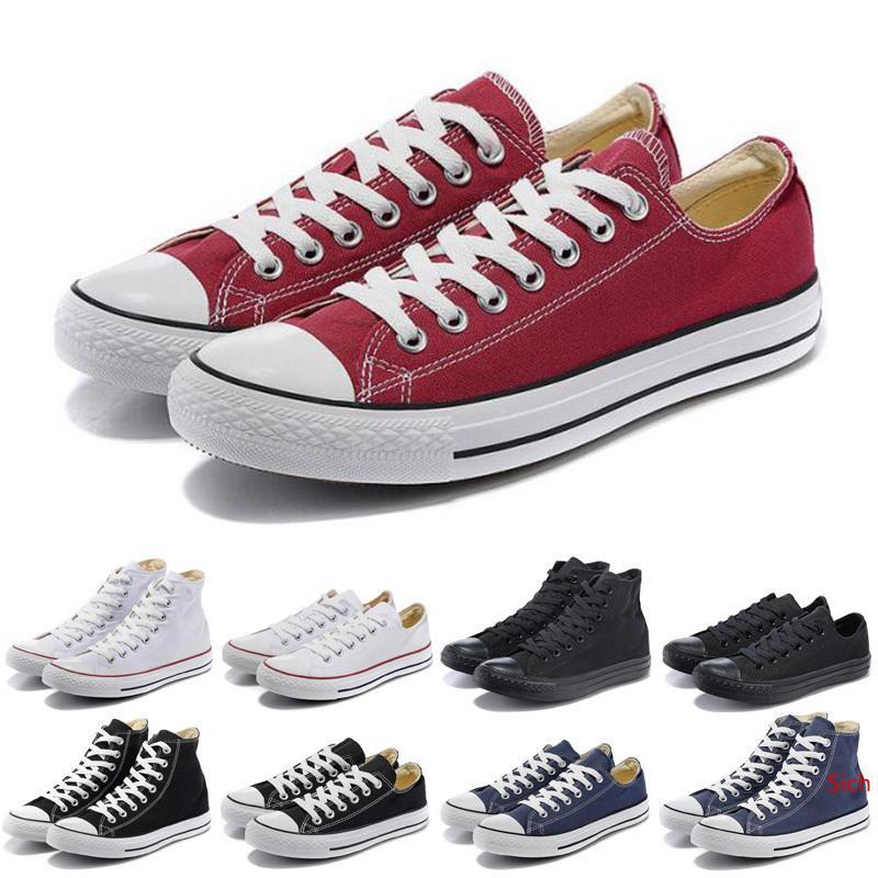 Mais recente homens sapatas de lona 10s tênis mulheres preto Branco Laranja Vermelho Marinho azuis dos homens do desenhista ocasional de skate sapatas de passeio 36-45