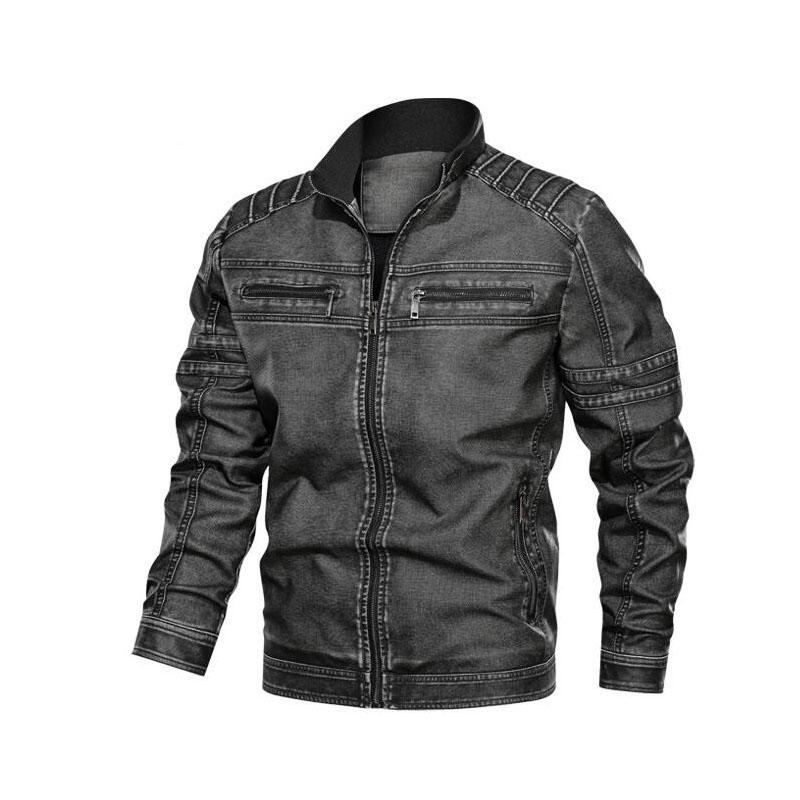 Mens Designer Leather Jackets Fashion PU Vintage Luxury Jacket New Arrival Streetwear Leather Jacket with Zipper High Quality Mens Clothing