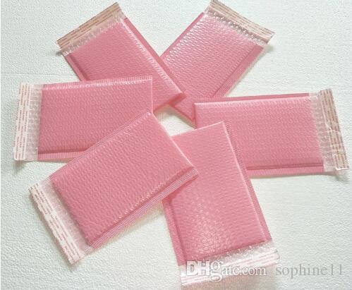 15x20 + 5cm ويمكن استخدامها الفضاء الوردي فقاعة بولي المغلفات البريدية ميلر مبطن حقيبة الذاتي ختم الوردي فقاعة التعبئة حقيبة