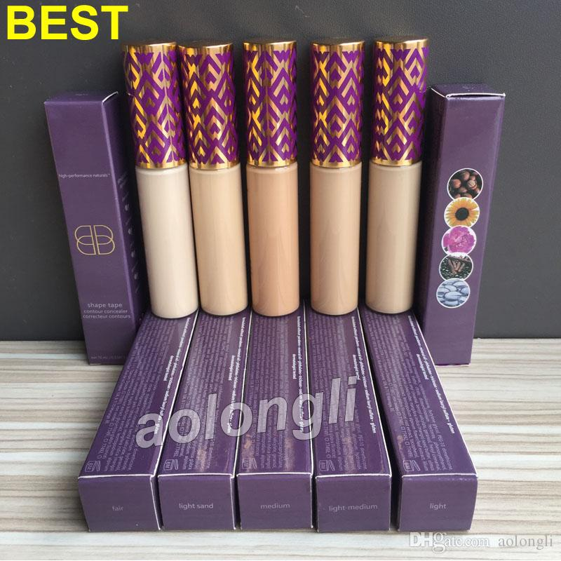 Best shape tape contour concealer foundation 10ml Makeup Face liquid concealer 5 colors Fair Medium Light Sand Light Light Medium