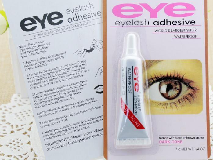 Stok Yeni Yapıştırıcı Yanlış Kirpik Göz Kirpik Tutkal Makyaj Temizle Beyaz Siyah Su Geçirmez Makyaj Araçları 7g