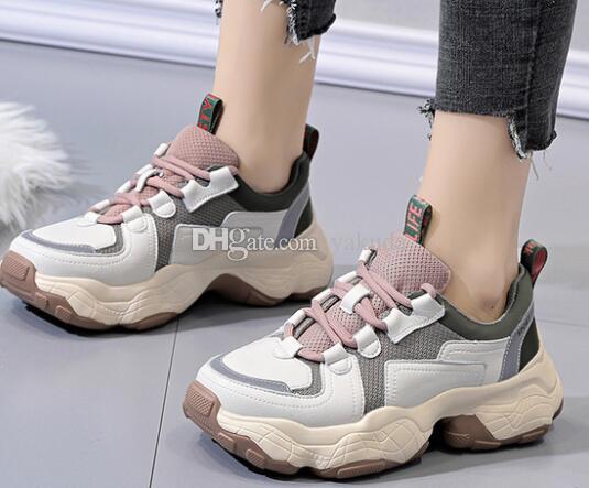 goma de salida informe hermosa zapatos cómodos simples corte de graves fresco agradable pesados suela de los zapatos ocasionales señoras de la muchacha del papá de los zapatos corrientes de las mujeres