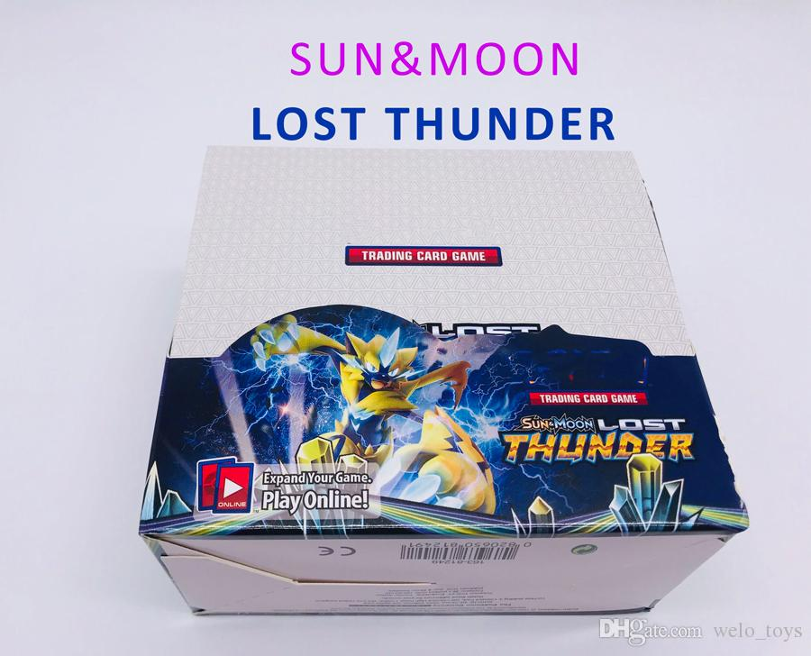 324pcs/set Sun&Moon LOST THUNDER Card Game Anime Trading Cards Pocket Playing Card Party Toys DRAGON MAJESTY