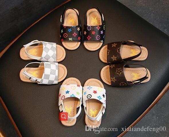 طفل رضيع الأطفال غير زلة أحذية الشاطئ الحلو الأميرة الأحذية صيف 2019 الفتيان والفتيات الصنادل الجديدة
