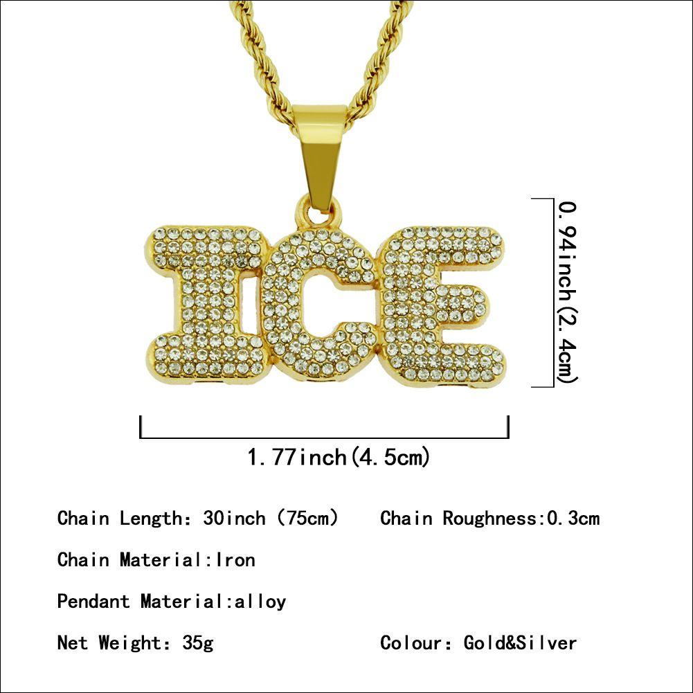 Diamond-Set Inch Letter Pendant Item Jewelry Street Hip Hop Pendant