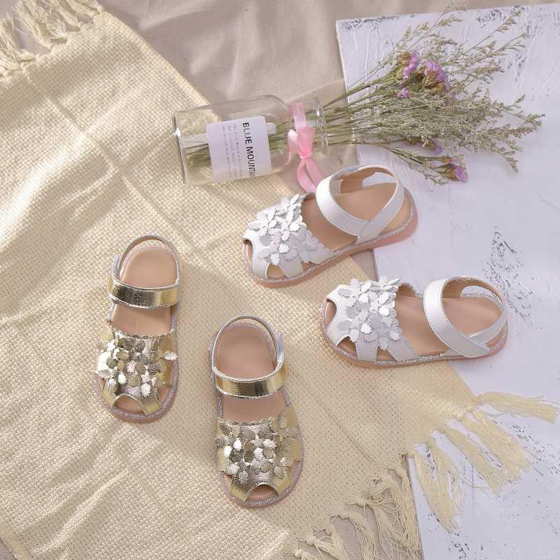 Girls Sandals New Fashion Children Shoes pu Leather Closed Toes Summer baby Sandals Cut-Outs Princess SGF078
