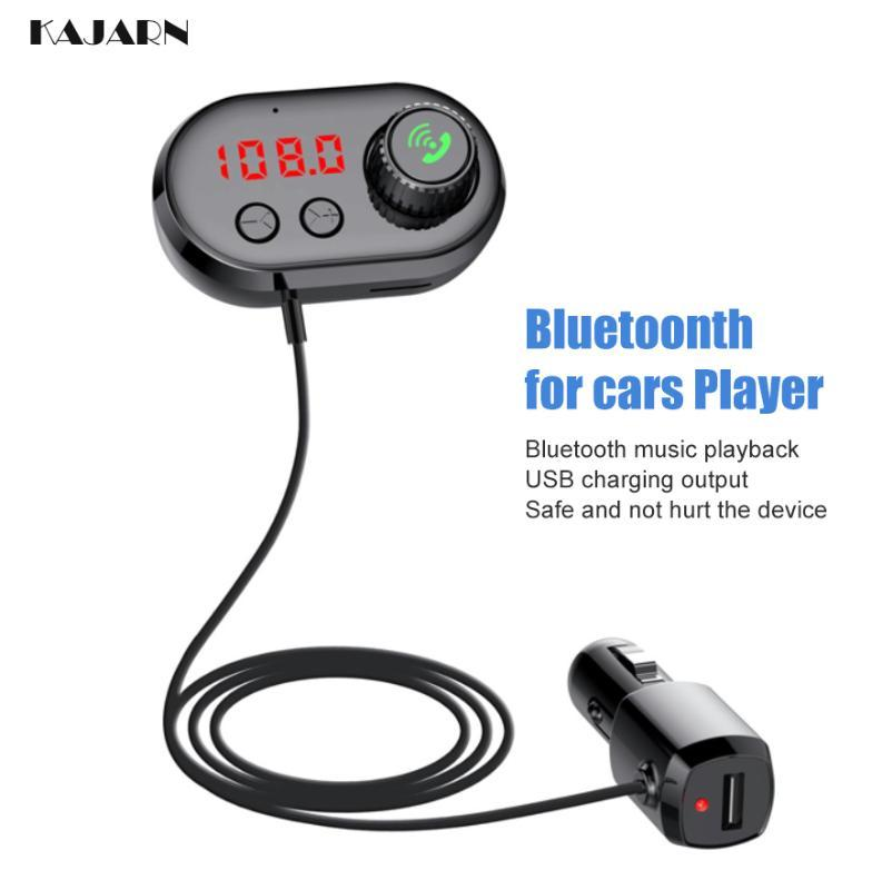 Caricabatterie USB Player KAJARN Lettore MP3 Radio Audio Adapter kit vivavoce per auto Bluetooth FM Transmitte Aux Cable