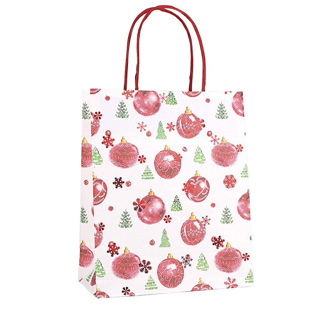 12 Pcs Colorful Kraft Paper Gift Bag With HandleNew Year Kids Party Favors Shopping Packing Bag Gift Packaging Home Supplies
