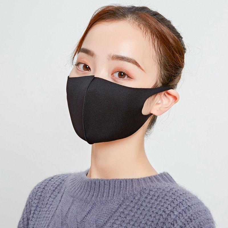 Masque bouche noire bricolage femmes anti-poussière Visage Coton bouche Masque pour Masque Voyage Vélo Camping anti coton bouche lavable