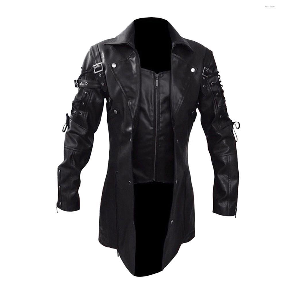 남성 재킷 패션 빈티지 가죽 재킷 자전거 오토바이 지퍼 긴 소매 코트 탑 블라우스 고품질 남성 외투 새로운