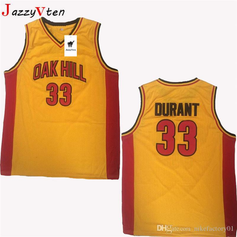 HOT embroidery #33 Kevin Durant Oak Hill Jersey #22 Carmelo Anthony High School College Durant Basketball Jerseys Breathable uniform shirts