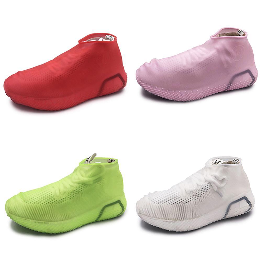 Bottes jour de pluie unisexe Couverture anti-dérapant chaussures réutilisables Latex Covers Hommes Femmes imperméable Rain Boot Chaussures Couvre-chaussures