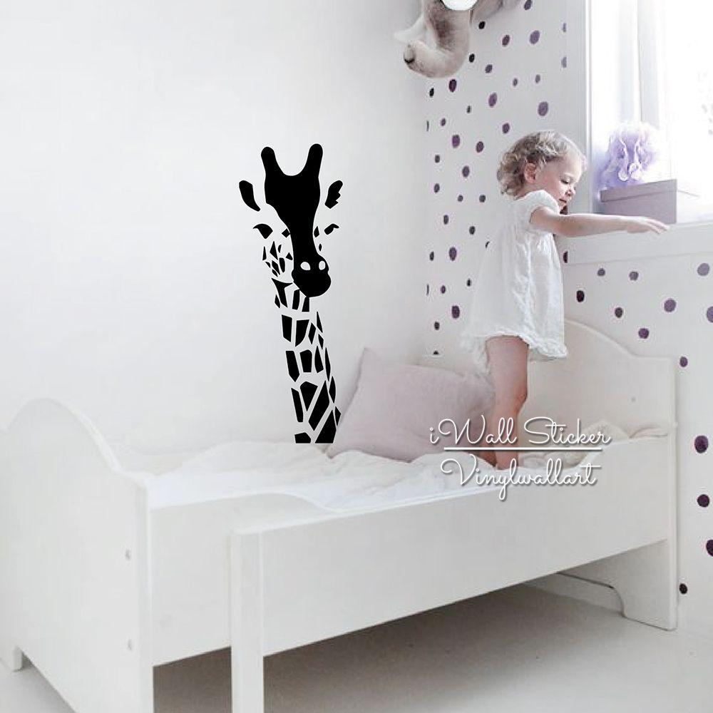 Giraffe Personalised Name Wall Art Mural Decal Sticker