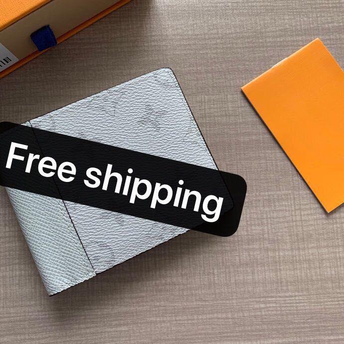 선물 상자 2020 고전적인 남자의 회색 패턴 짧은 클립 여성 지갑 짧은 클립 남성 지갑 카드 홀더