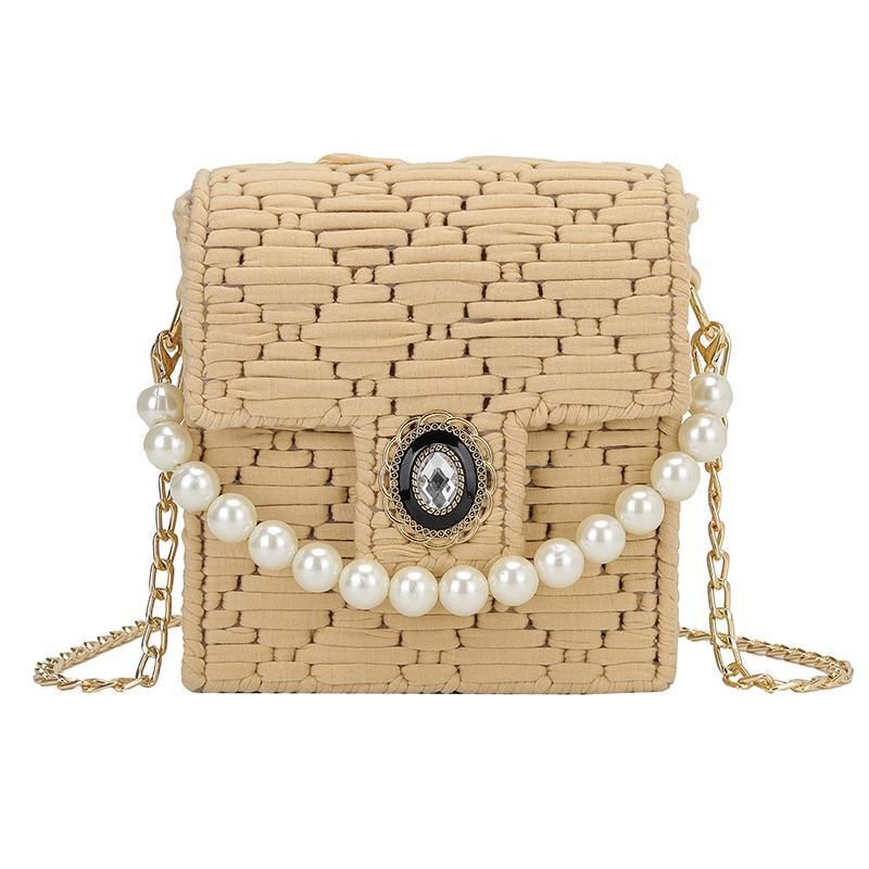 DIY materiais, tecidos à mão saco pequeno selvagem Ombro Cross-corpo Bag Moda portátil quadrado pequeno