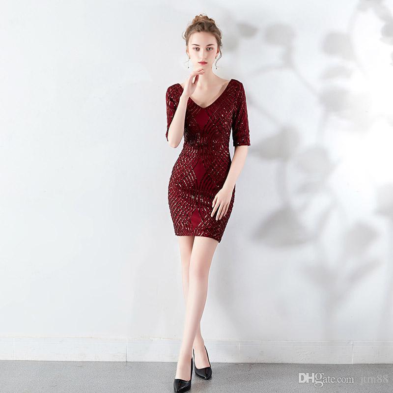 El último diseño de pescado corte vestido sexy vestido de fiesta de noche largo de lentejuelas