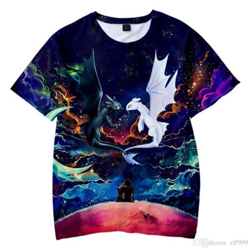2019 Summer New How to Train Your Dragon 3 Boys Tops Short Sleeve T-Shirt