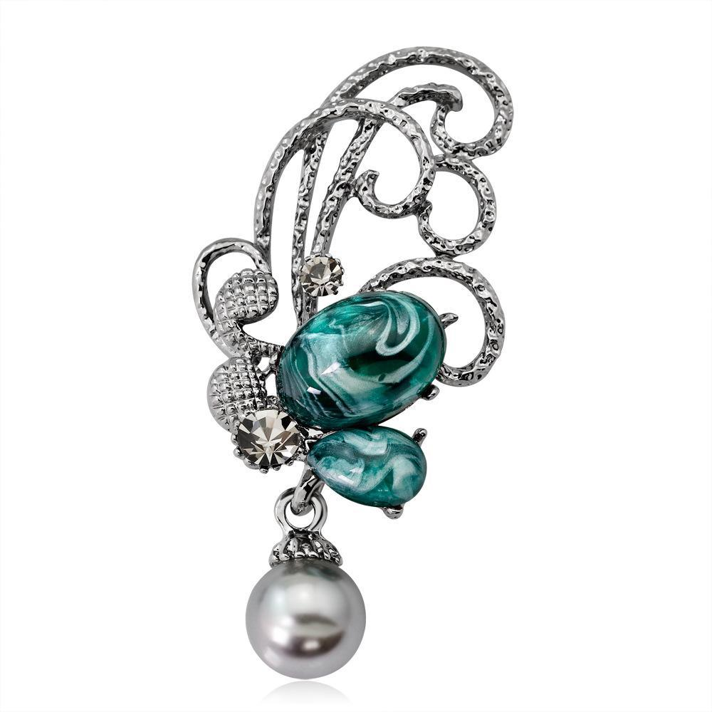 Envío libre Caliente-venta del Rhinestone de la broche de mariposa broche de joyería de moda al por mayor br altos de las mujeres Regalo de tela Sombrero Accesorios