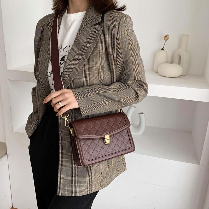 Diamant-Gitter-modische Messenger Schultertasche für Frauen Brand Design Kleiner Umhängetaschen Mädchen Mini PU-Leder-Handtaschen-Partei-Beutel