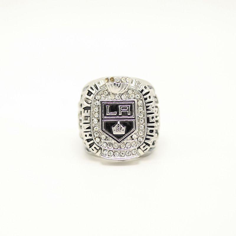 Gerçek ince toptan ücretsiz gönderim 2012 Buz Hokeyi LA Kings Çinko Alaşım Gümüş kaplama Erkekler Dünya Şampiyonası Yüzük Erkekler rings1409