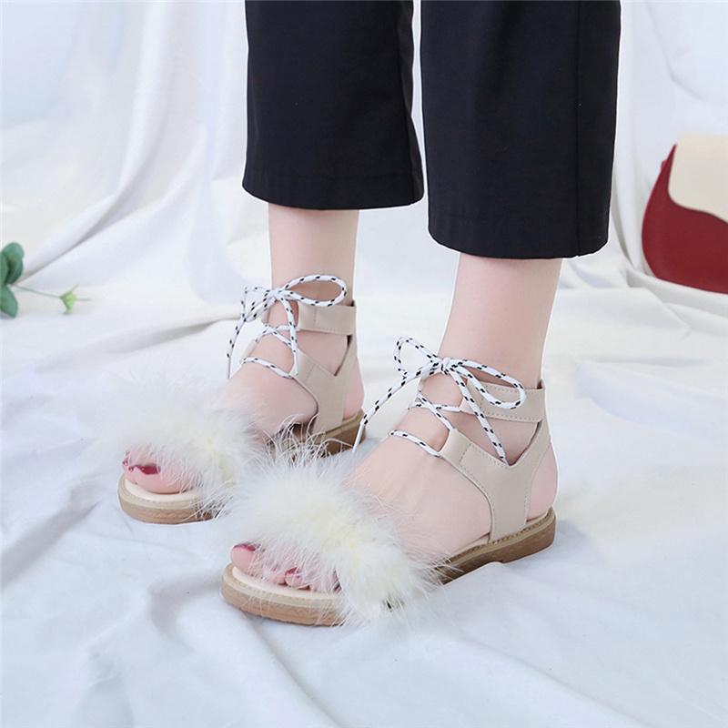 Kadın Moda Sandalet Roman Kadınlar Yaz düz tabanlı Ayak Sandalet Ayakkabı Askı-moda Boş kişilik Rahat Vahşi