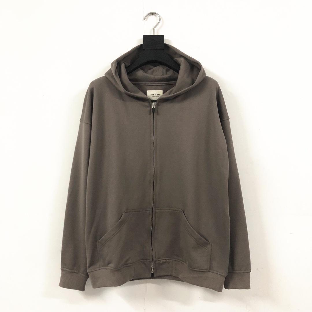 Gottesfurcht Mensentwerfer Jacken Designer-Mantel-Reißverschluss-Pullover Winter Windjacke hohe Qualität Hip-Hop-Sportmantelgröße S-XL