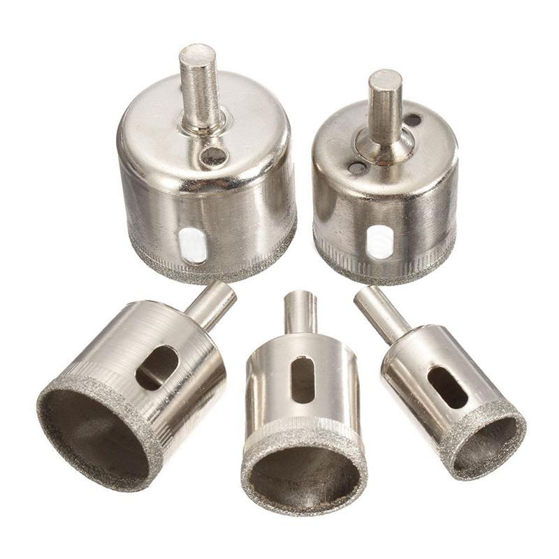 5x 20-42mm Diamond Hole Saw Drill Bit Set For Tile Glass Marble Granite Cutting