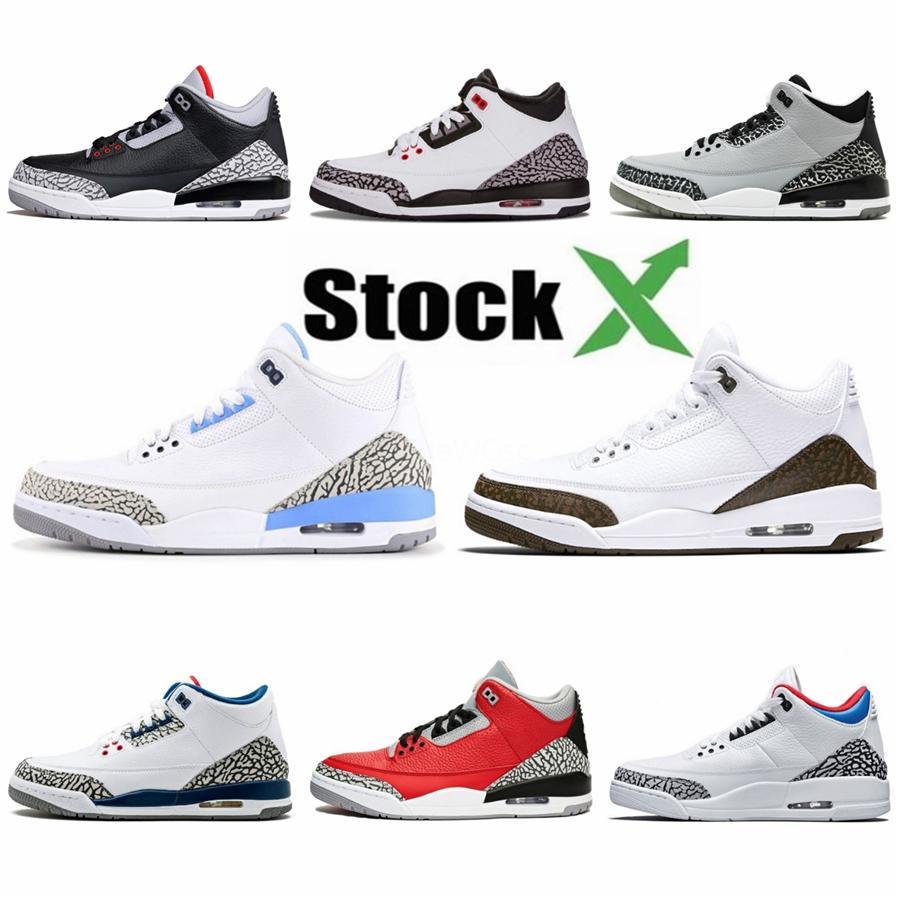 Kw Noir Gris 3S Hommes Chaussures de basket-ball Travis Scotts 3 Raptors de chaussures Bred Neon Fiba Rétro tatouage maille entraîneurs des hommes de sport Chaussures de sport 40-47 # 946