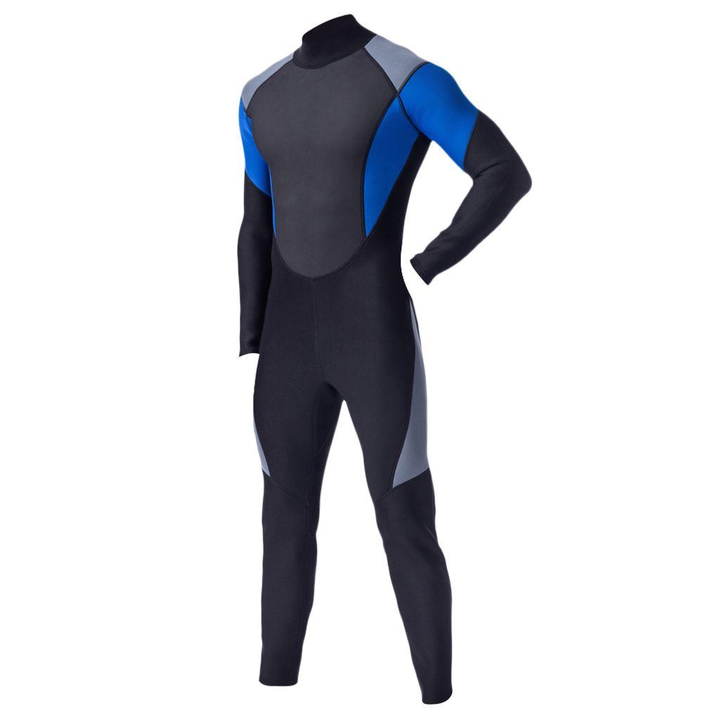 Мужские 3мм неопрена всего тела Wetsuit Погружение Surf SCUBA Дайвинг Подводная охота на байдарках и каноэ Парусный спорт