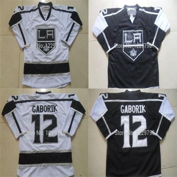san francisco c09e8 fd7ef 2019 2016 Mens NEW Los Angeles Kings Hockey Jerseys #12 Marian Gaborik  Jersey LA Home Black White Cheap Marian Gaborik Stitched Jerseys From ...