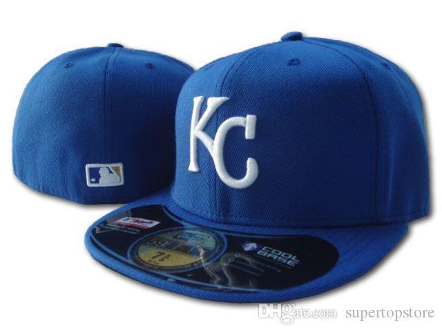 Оптовая продажа 2020 новый мужской KC Royals на поле стиль Бейсбол приталенные шляпы спортивная команда логотип вышитые полностью закрытые шапки вне двери мода кости