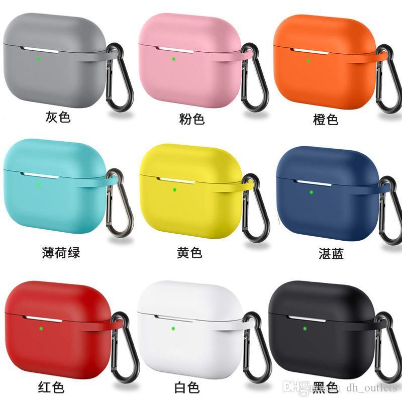 Cubierta protectora del caso de silicona para Apple Airpods casos pro TWS Bluetooth para auriculares de silicona suave cubierta para protección Airpods